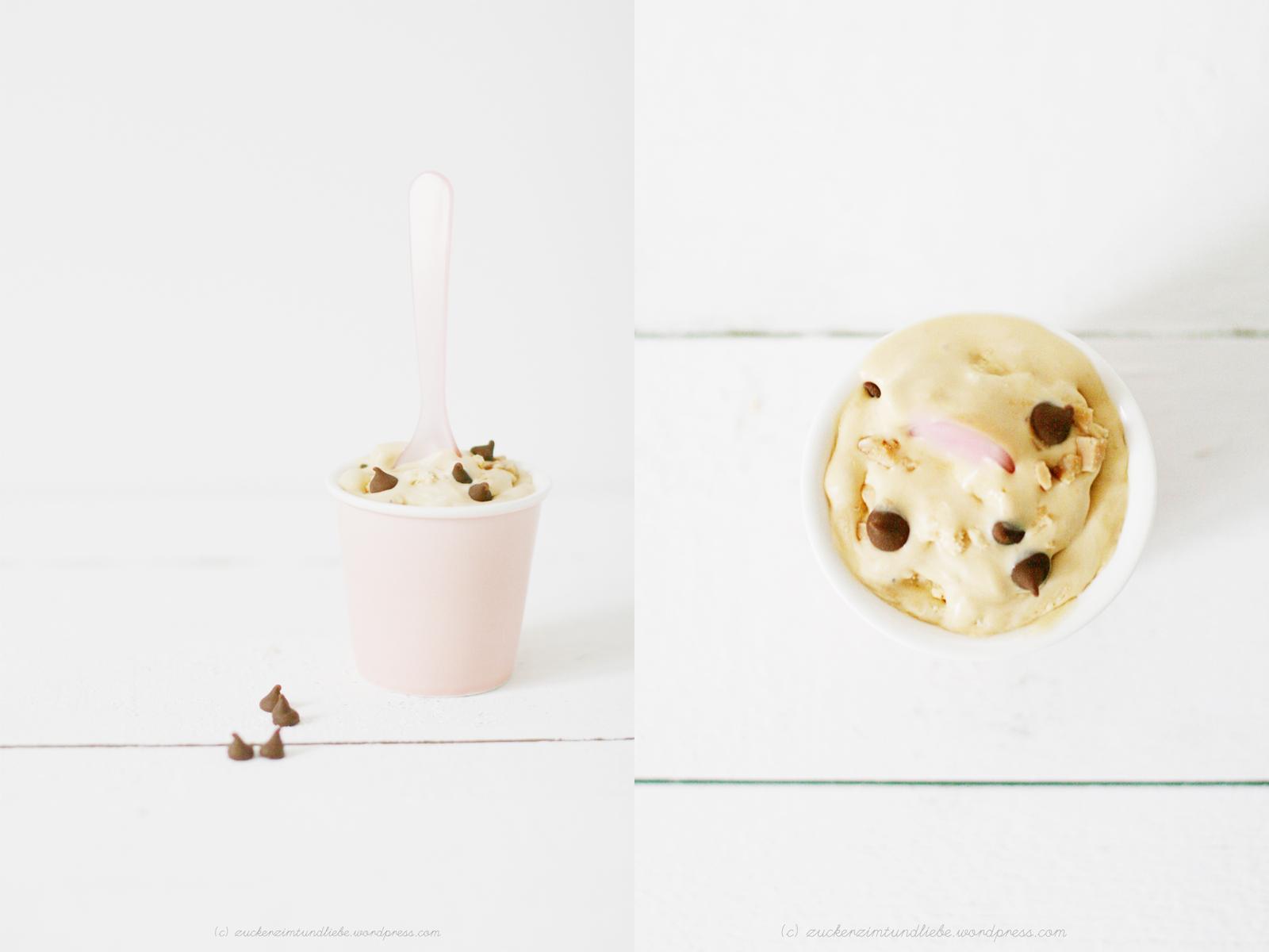 cremiges vanilleeis ohne ei