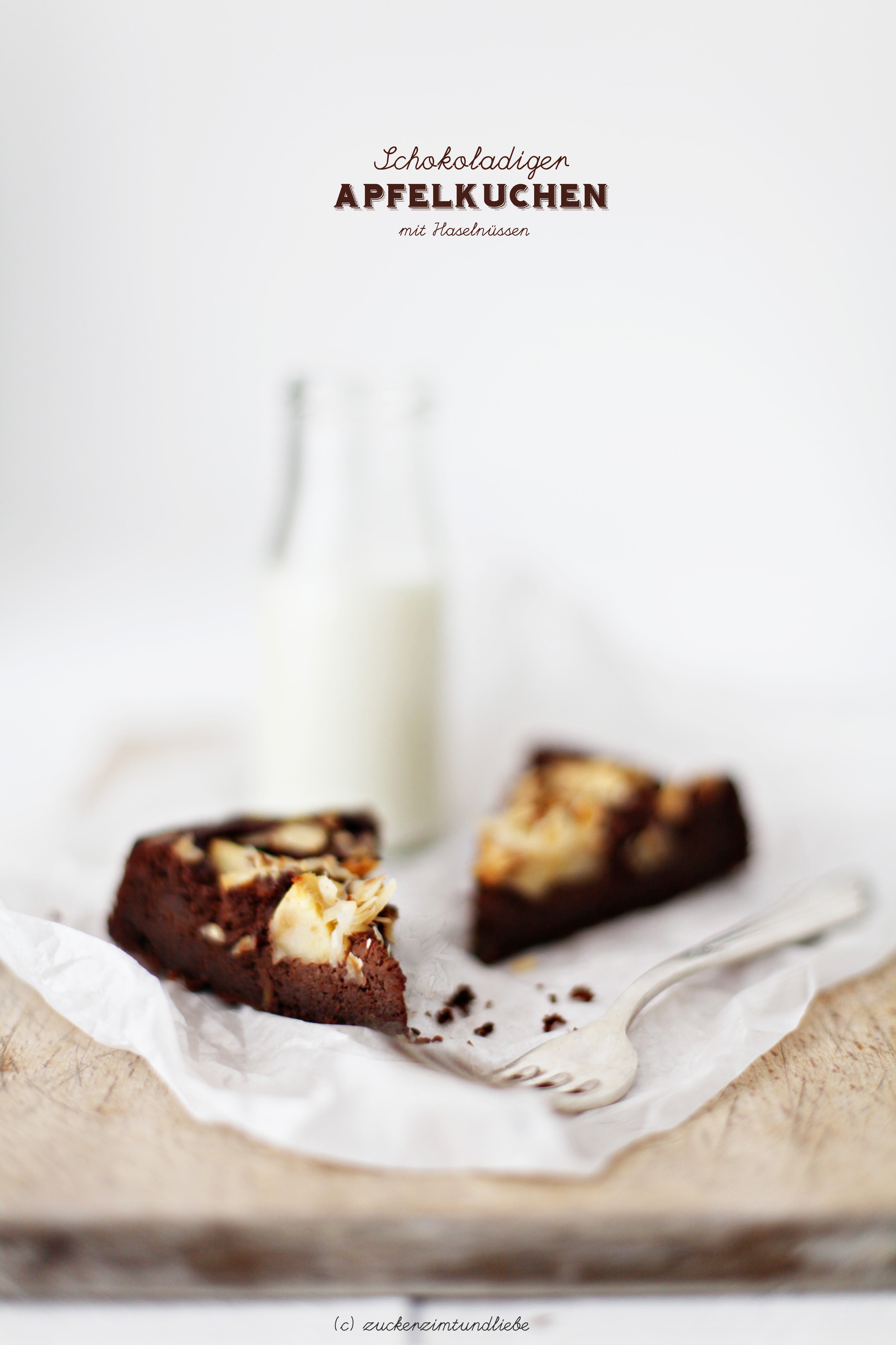 Grandioser Schokoladen Apfelkuchen Mit Haselnussen Zucker Zimt