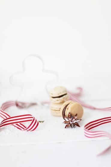 Lebkuchen Macarons Zucker Zimt und Liebe