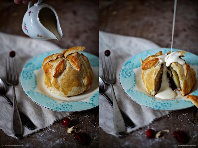 Zuckerzimtundliebe Apple Pie Apfelkuchen Vanillesauce