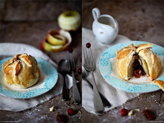 Apple Pie Apfel Kuchen mit Füllung Cranberry Zuckerzimtundliebe