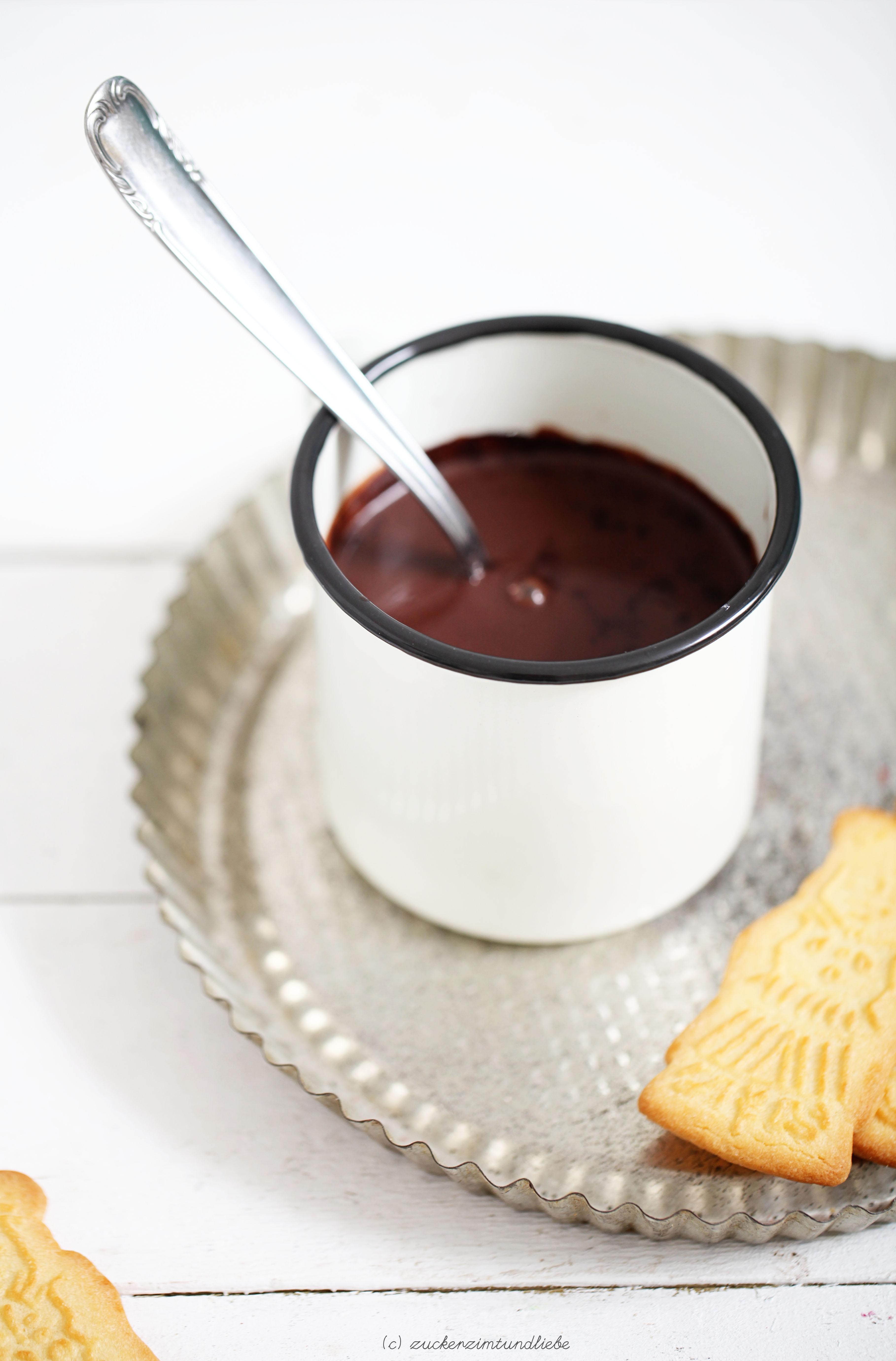 Rezept Heisse Schokolade mit Nutella Hot Chocolate Zucker Zimt und Liebe