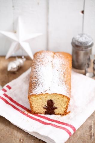 Zucker Zimt und Liebe Rezept für weihnachts marmorkuchen mit figur