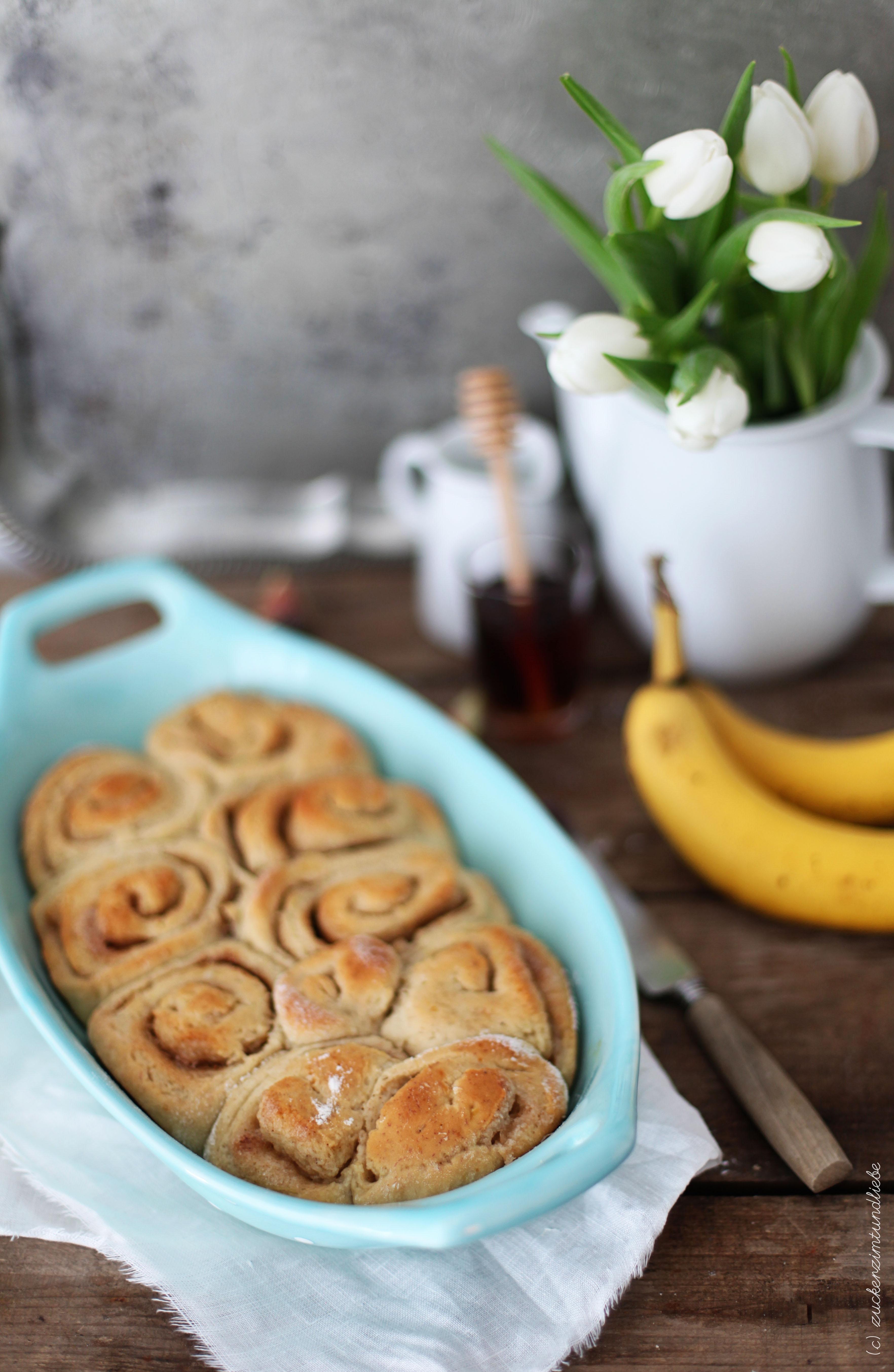 Blog Zuckerzimtundliebe Rezept für Bananen Zimtschnecken Hefeteig