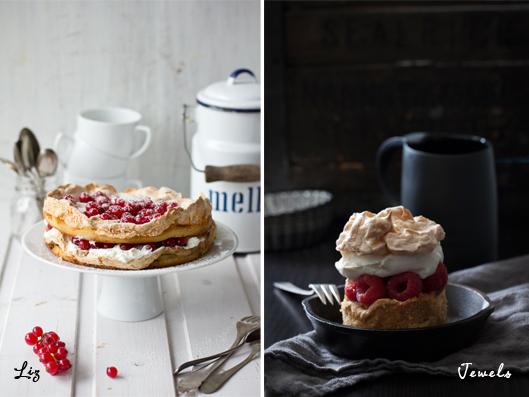 Eine Doppelte Portion Beeren Baiser Kuchen Ein Very Berry Sweeter