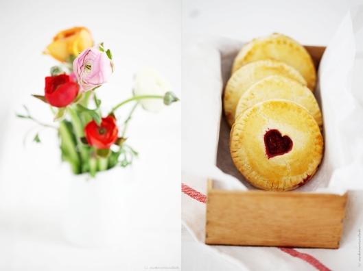 Hand pies Himbeer Pie Valentinstag Backrezept Herz