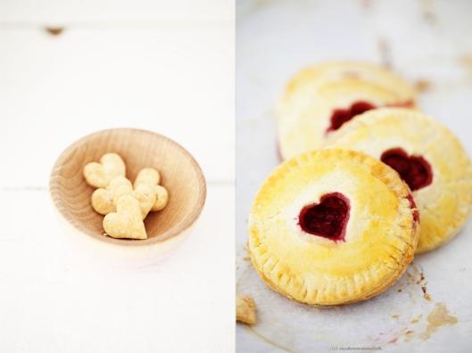Backrezept Hand Pie Himbeerfüllung Valentinstag mit Herz