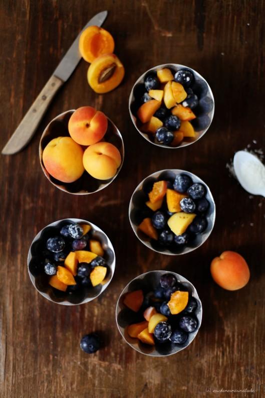 Rezept für Kokos Crumble mit Blaubeeren und Nektarinen von zuckerzimtundliebe Foodblog