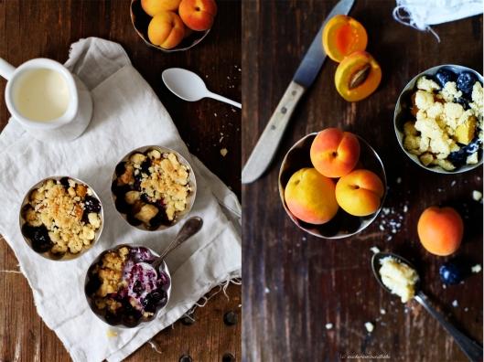Zuckerzimtundliebe Crumble Kokoscrumble mit Blaubeeren und Aprikosen Rezept