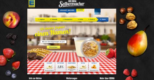 EDEKA Selbermacher Joghurt Promotion zuckerzimtundliebe