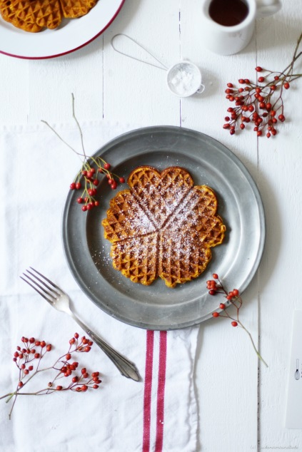 Zuckerzimtundliebe Rezept Kürbiswaffel Herbst Foodblog