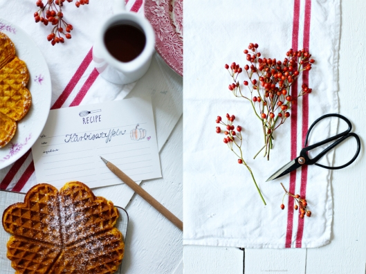 Zuckerzimtndliebe Rezept Kürbiswaffeln Foodblog Herbst