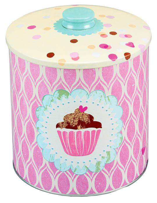 Zucker, Zimt und Liebe Keksdose Cupcake