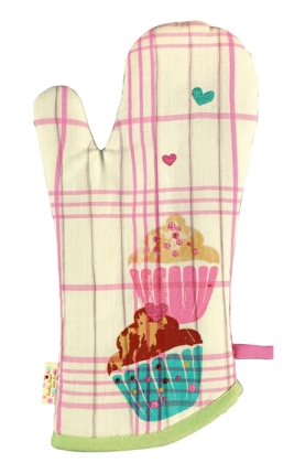 Zucker Zimt und Liebe Spiegelburg Kollektion Backhandschuh Cupcake rosa