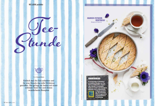 Edeka Mit Liebe 2014 Teestunde tea time Rezepte Amanda Berens