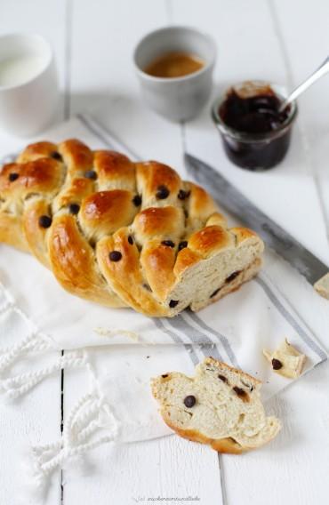Zuckerzimtundliebe Rezept Brioche Bananen Schokoladen Brioche Süsses Brot Hefe deutscher Foodblog