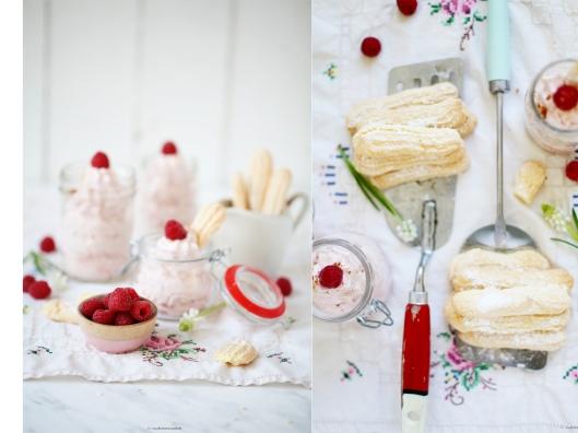 Cheesecake Dessert mit Himbeeren und Rezept für Löffelbiskuits Ich backs mir zuckerzimtundliebe foodblog