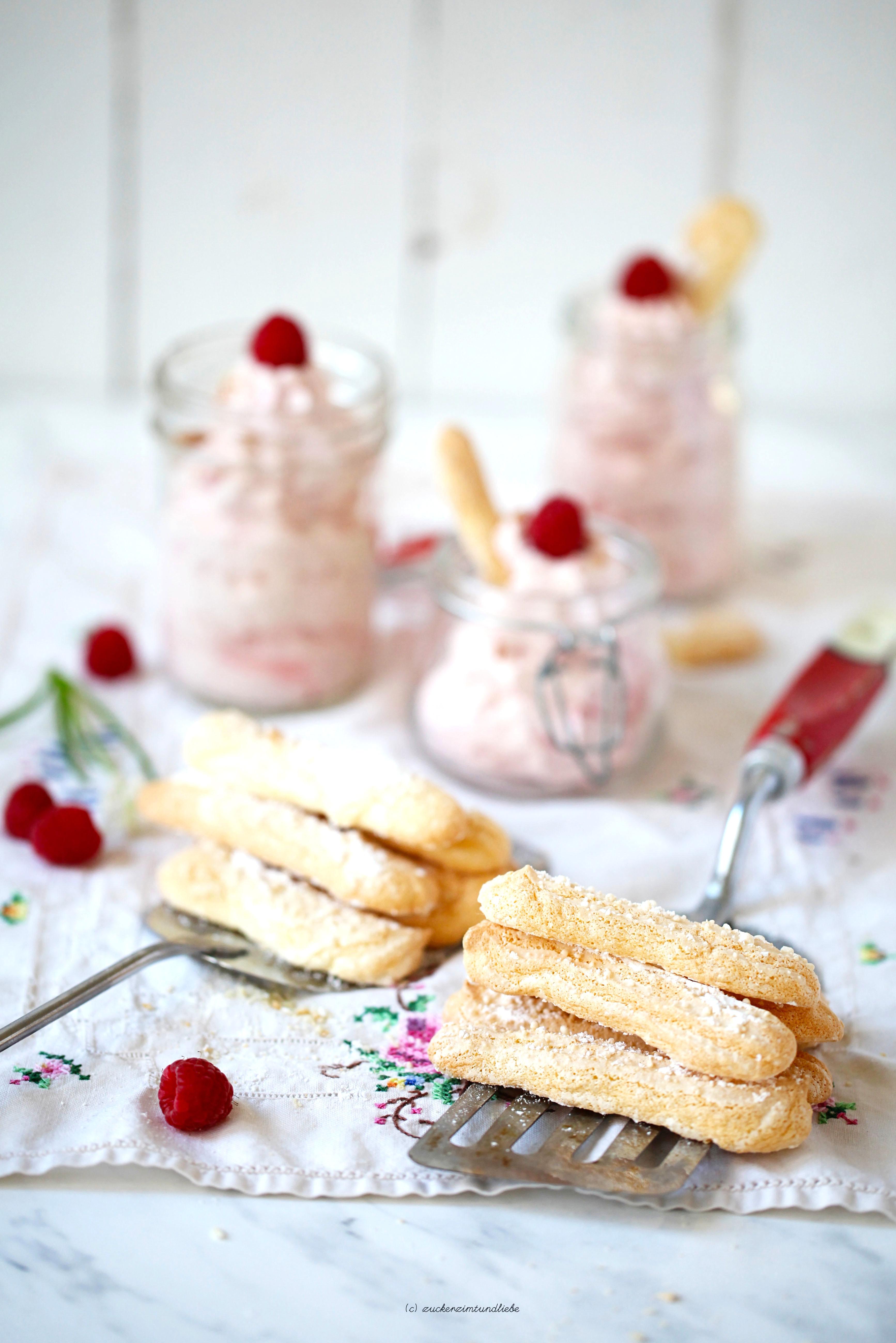 Cheesecake Dessert mit Himbeeren und Rezept für Löffelbiskuits Ich backs mir zuckerzimtundliebe foodblog13a