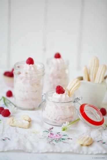 Cheesecake Dessert mit Himbeeren und Rezept für Löffelbiskuits Ich backs mir zuckerzimtundliebe foodblog5