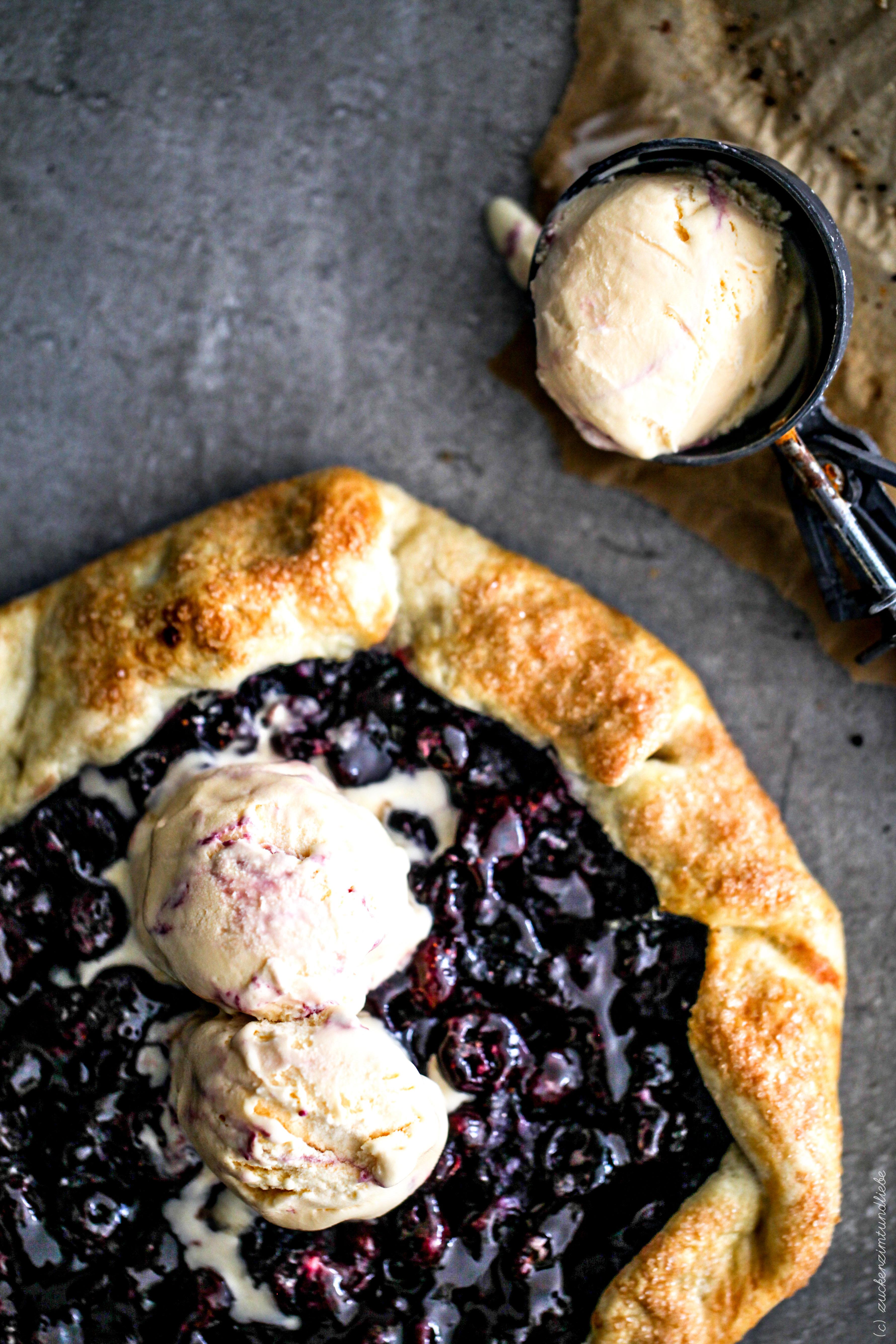 Leckeres Rezept Blaubeer Galette Blaubeertarte Eis Backrezept Foodblog Backblog Zuckerzimtundliebe 4