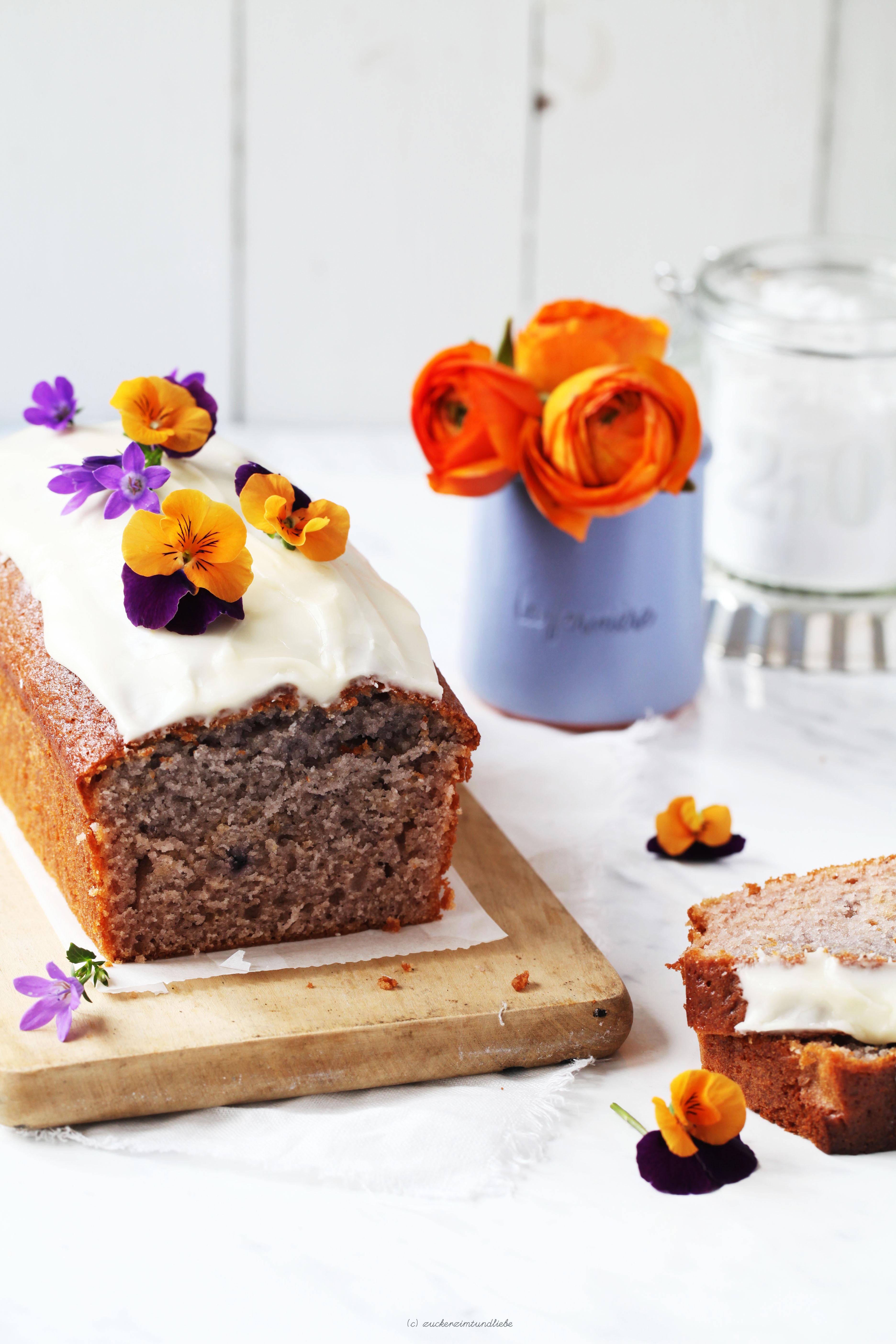 ein rezept f r leckeren blaubeerjoghurt kastenkuchen mit orangenglasur zucker zimt und liebe. Black Bedroom Furniture Sets. Home Design Ideas
