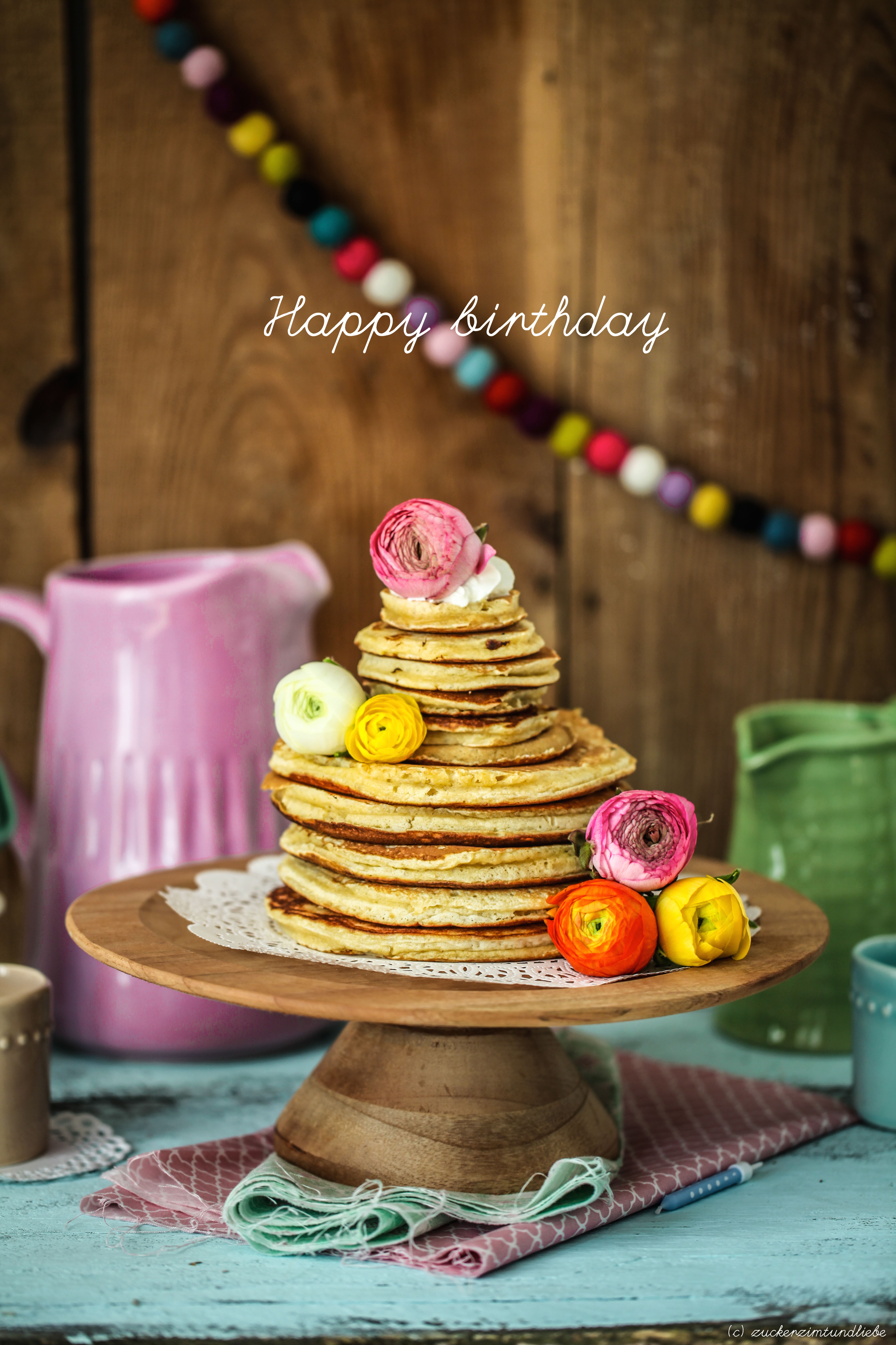 Zuckerzimtundliebe Rezept Zitronen Buttermilch Pancakes Geburtstagstorte Lecker Weltrekord b