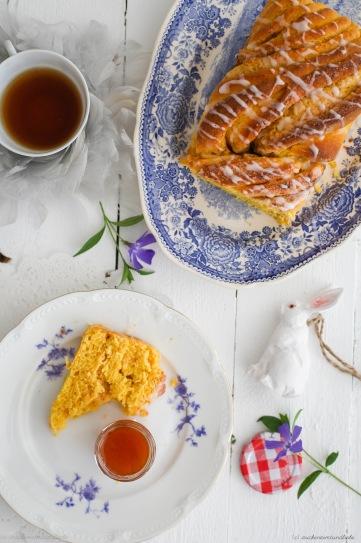 Rezept für Möhren Hefezopf Zimtzopf Zimtbrot carrot swirl bread recipe easter foodblog zuckerzimtundliebe Hefeteig