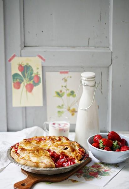 Rezept für Strawberry pie Erdbeerpie einfach Pierezept Erdbeerrezept Tarte Sommerkuchen Backrezept Zuckerzimtundliebe Foodblog 4a