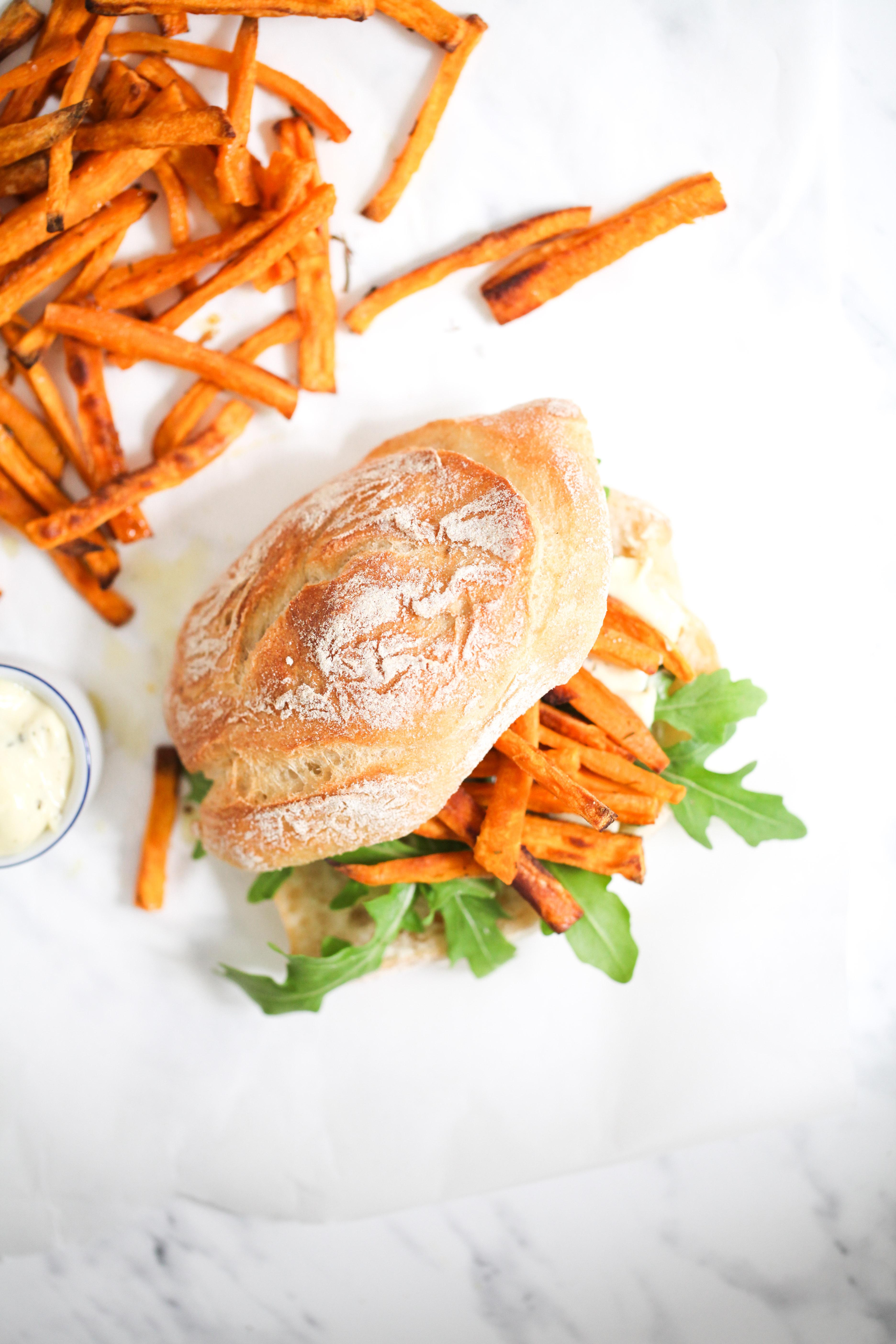 Chip Butty sweet potato fries süsskartoffel pommes sandwich stulle der woche zuckerzimtundliebe foodblog rezept recipe wm finale 2014 forza