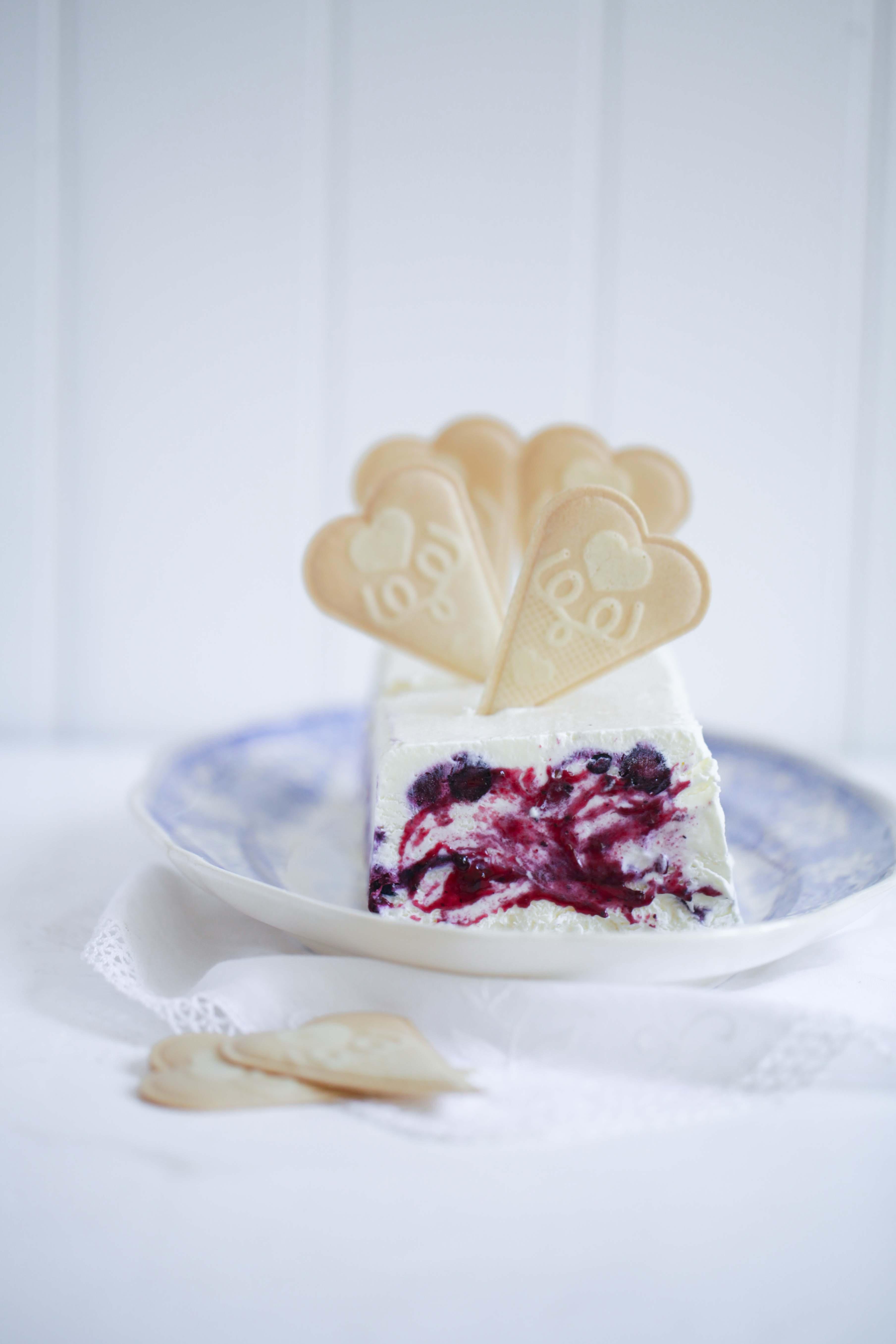 Selbstgemachtes Eis Mit Ofengeschmorten Vanille Blaubeeren