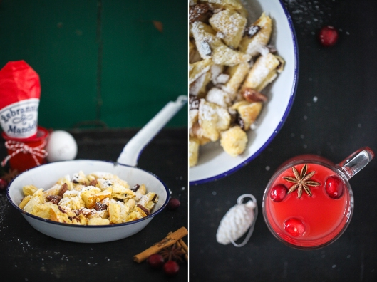 Rezept für Weihnachtsschmarrn Kaiserschmarrn mit Cranberries und gebrannten Mandeln Zuckerzimtundliebe Foodblog Backblog_